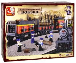 <b>Конструктор SLUBAN Железнодорожный вокзал</b> M38-B0232 ...