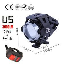 Huiermeimi <b>1Pair Motorcycle</b> LED headlights U5 12V <b>125W</b> ...