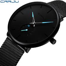 Top Brand Luxury Watch Men <b>Casual</b> Black <b>Blue Pointer</b> Japan ...