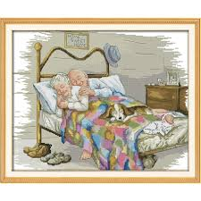<b>Everlasting love Christmas</b> The old married couple Ecological cotton ...