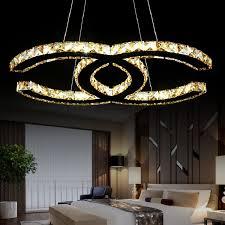 Modern Luxury Crystal <b>LED Pendant Light</b> Fixture Crystal Light ...