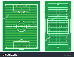 scale vector diagrams of a soccer pitch and an american football    save to a lightbox