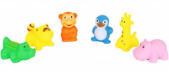 <b>Набор резиновых</b> игрушек Животные <b>6</b> шт B4308A12 - купить в ...