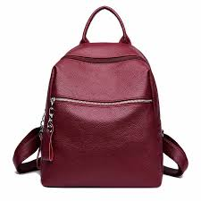 Fashion Women Leather Backpack Preppy Style Shoulder Bags <b>for</b> ...