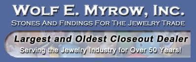 Wolf E. Myrow, Inc. | Close out <b>jewelry making supplies</b> dealer.