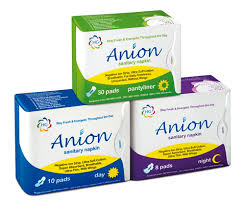 Anion <b>Sanitary Napkins</b> — Health Gate