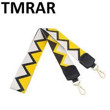 2019 New handbags strap triangle design belt national stripe <b>star</b> ...
