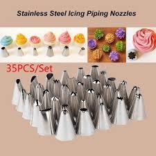 35PCS/SET Silicone DIY Sugar Craft <b>Ice Cream</b> Decorating Tools ...