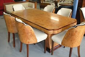 enquire about art deco cloudback dining table and 6 chairs art deco dining 6