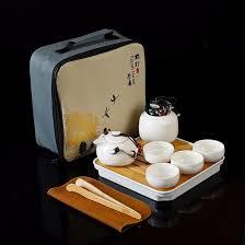 10pcs <b>Kung fu</b> Tea set,<b>Chinese Travel</b> Ceramic Portable Teaset ...