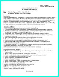 resume machinist resume objective