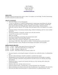 jodys medical transcriptionist resume resume format for medical transcriptionist