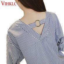 Купите Половина Рукава Женская Рубашка <b>Блуза</b> С <b>Рукавом</b> ...