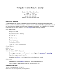 sample computer science resume sample computer science resume 4949