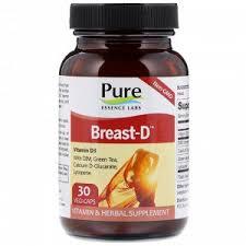 Pure Essence, <b>Breast</b>-<b>D</b>, <b>30 капсул</b> в растительной оболочке Не ...