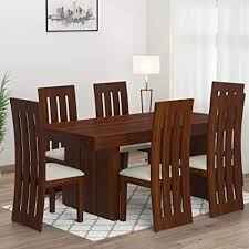 Mamta <b>Decoration</b> Sheesham Wood Dining Table Set with <b>6</b> Chair ...