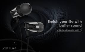 Kuulaa M17 Wired Earphones with Microphone, Full ... - Amazon.com