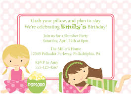 birthday party invitations templates com slumber party invitations templates