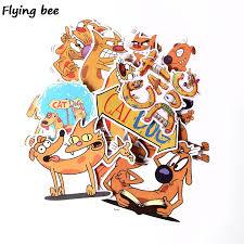 <b>Flyingbee 14 Pcs</b> Catdog Cute Waterproof <b>Sticker</b> for PVC ...