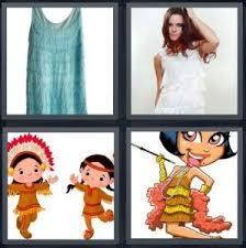4 Pics 1 <b>Word</b> Answer for Skirt, Dress, Indian, Flapper | Heavy.com