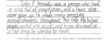 education   john fitzgerald kennedy national historic site us  an excerpt from a winning essay from the quotwhat john f kennedy means to