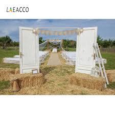 <b>Laeacco</b> Wedding Stage Farm Haystack <b>Gray</b> Door Ladder Outdoor ...