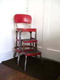 red kitchen step stool step chair  step chair
