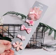 5pcs New Cute <b>Flower</b> Princess Hairpin Kids Girls <b>Hair Clips</b> Bows ...