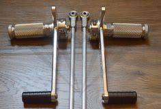 <b>Motorcycle</b> Rearsets-<b>Universal</b> Silver Rearset with Linkage Kit ...