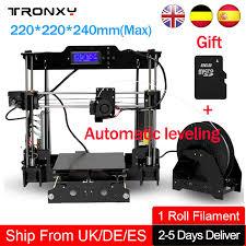 <b>Tronxy Auto Leveling 3d</b> Printer DIY Precision Reprap 3D Printing ...