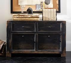 dawson wood 2 drawer file cabinet weathered black finish barn office furniture