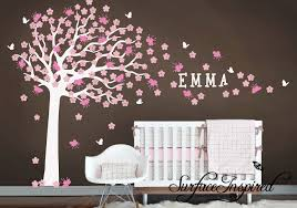 tree wall decals nursery nursery wall decal large cherry blossom tree by surfaceinspired  x