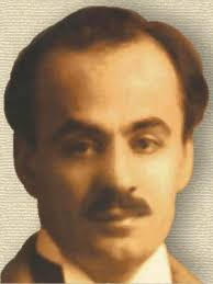 Oil painting of Khalil Gibran, head, profile. Khalil Gibran (source) - GibranKhalil300px