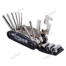 $7.56 - 16 in 1 <b>Multi</b>-<b>function Bicycle Repair Tool</b> Kit with 6 PC ...