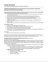 Samples — Quantum Tech Resumes Enterprise Software Account Manager Sample Resume – Barney Mayerson