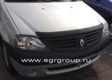 <b>Дефлектор капота тёмный</b> Renault Logan 2004-2014 breeze ...