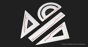 <b>Fizz Aluminum Alloy</b> Ruler Set from Xiaomi <b>Youpin</b>