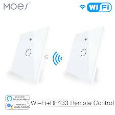 <b>WiFi</b> Smart Glass Panel Touch Switch <b>RF433 Transmitter Wall</b> Panel ...