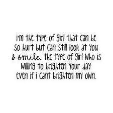 Im The Type Of Girl Quotes. QuotesGram via Relatably.com