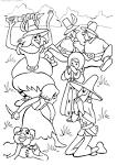 Картинки разбойники раскраска
