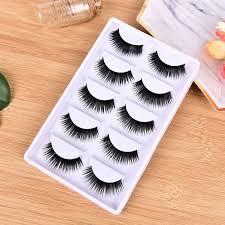 <b>5 Pairs</b> Eyelashes Buckle Thick Long Fake Eyelash Glues <b>3D Mink</b> ...