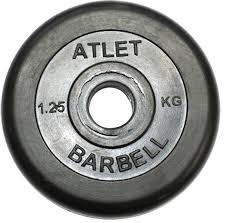 <b>Диск обрезиненный MB Barbell</b> Atlet 26 мм 1.25 кг купить в Москве ...