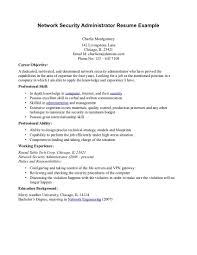 security cover letter network administrator