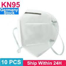 <b>10PCS KN95 N95</b> Respirator Face Mask Disposable Breathable ...