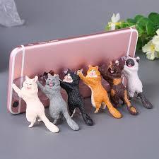 Cute Cat Phone Holder <b>Car Mobile Phone</b> Bracket Practical ...