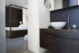 room fabio black modern: view in gallery black and white bathroom complements the color scheme of the bedroom
