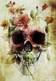 Skull <b>Vintage</b> Flower.。Art By :→: RUSS | <b>Flower skull</b>, Skull ...