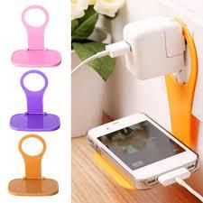 <b>1pcs Phone Charging Rack</b> Holder Wall Charger Adapter Hanger ...