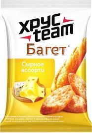 Купить <b>Сухарики ХРУСteam Багет сырное</b> ассорти, 60г за 43 руб ...