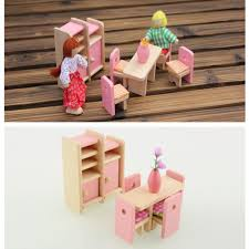 2016 hot sale wooden dinning dollhouse furniture dollhouse miniature kids play toychina mainland affordable dollhouse furniture